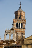 Campanile santo stefano. In the beautiful city of venice in italy Stock Images