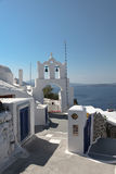 Campanile on Santorini island Royalty Free Stock Images