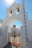 Campanile on Santorini island Stock Photos