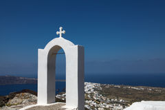 Campanile on Santorini island. Campanile in Oia on Santorini island in the Cyclades (Greece Stock Photos