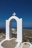 Campanile on Santorini island. Campanile in Oia on Santorini island in the Cyclades (Greece Royalty Free Stock Images