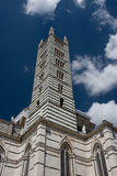 Campanile, Siena. Looking up at the Campanile in Siena stock photo