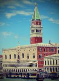 Campanile of St. Mark and the Doge's Palace in Venice Stock Photo