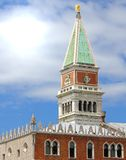 Campanile of St. Mark and the Doge's Palace in Venice Royalty Free Stock Photo