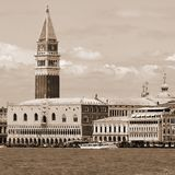 Campanile of St. Mark and the Doge's Palace in Venice in Italy Stock Image