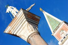 Campanile St. Mark`s Square, Italy royalty free stock images
