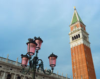 The Campanile in St. Mark's Square, Venice Royalty Free Stock Photo