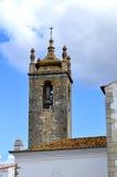 Campanile storico della chiesa del ou Igreja de Sao Clemente di Loule Igreja Matriz de Loule Fotografia Stock