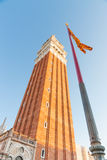 Campanile Tower in Saint Mark's Square Venice Royalty Free Stock Photos