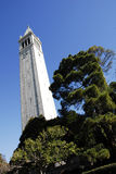 The Campanile at UC Berkeley. Sather Tower (the Campanile) is an icon's clock in UC Berkeley, getting a long-overdue overhaul, both inside and out Royalty Free Stock Photography