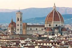 Campanile van Florence, van Duomo en van Giotto. stock fotografie