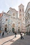 Campanile van Florence, van Duomo en van Giotto. royalty-vrije stock afbeeldingen