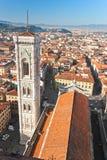 Campanile van Florence, van Duomo en van Giotto. stock afbeelding