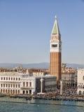 Campanile in Venetië Stock Foto's