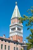 Campanile in Venetië stock foto
