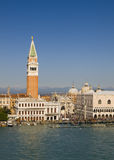 Campanile in Venice in a sunny day. Royalty Free Stock Image