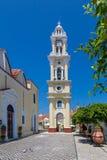 Campanile in Yalissos, isola di Rodi Immagine Stock Libera da Diritti