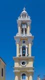 Campanile in Yalissos, isola di Rodi Fotografia Stock