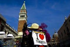 campanilemarco san venice Royaltyfri Fotografi