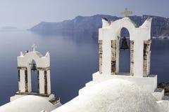 Campanili in Grecia Fotografia Stock