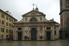 Varese city Cathedral, Italy royalty free stock image