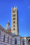 Campanille of The Duomo (cathedral) of Siena. Royalty Free Stock Photos