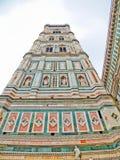 Campanille Florencja katedra. Florencja, Włochy Zdjęcia Royalty Free