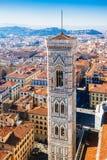 Campanille Giotto της Φλωρεντίας, Ιταλία Στοκ εικόνα με δικαίωμα ελεύθερης χρήσης