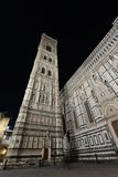 Campanille of Santa Maria del Fiore cathedral at night Stock Photography