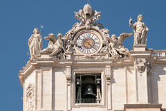 The 'Campanone' of St. Peter basilica Stock Images