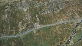 Campare som ses från luften stock video