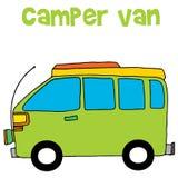 Campareskåpbil av vektorillustrationen Arkivbild