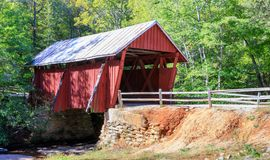 Campbell`s Covered Bridge South Carolina royalty free stock images
