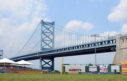 Campbell's Field - Ben Franklin Bridge Royalty Free Stock Images