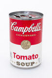 Campbell Tomaten-Suppendose Stockfotografie