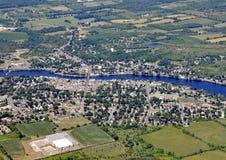 Campbellford Ontário, aéreo fotografia de stock royalty free
