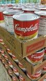 Campbells soppa på försäljning arkivfoton