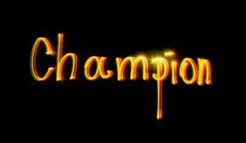 Campeão Imagem de Stock Royalty Free