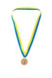 Campeão da medalha de ouro na fita Foto de Stock