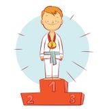 Campeão das artes marciais Imagem de Stock Royalty Free