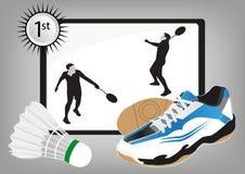Campeão do badminton Imagens de Stock