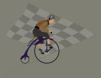 Campeão do ciclismo da velocidade e da glória Foto de Stock Royalty Free