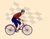 Campeão do ciclismo da velocidade e da glória Fotografia de Stock