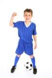 Campeão do futebol Fotografia de Stock