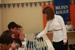 Campeão Elisabeth Paehtz da xadrez das mulheres do mundo Fotos de Stock Royalty Free