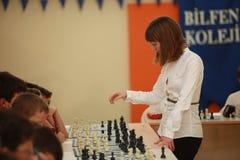 Campeão Elisabeth Paehtz da xadrez das mulheres do mundo Foto de Stock Royalty Free