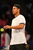Campeão Lleyton Hewitt do grand slam de Austrália na ação durante evento do tênis do aniversário da prova final de BNP Paribas o  Fotografia de Stock Royalty Free