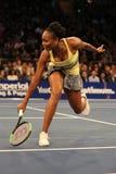 Campeão Venus Williams do grand slam do Estados Unidos na ação durante evento do tênis do aniversário da prova final de BNP Parib Imagens de Stock Royalty Free