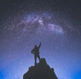 Campeón contra paisaje de la noche Stylisation de Instagram Fotografía de archivo