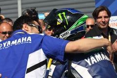 Campeón de Chaz Davies Yamaha R6 Supersport Imágenes de archivo libres de regalías